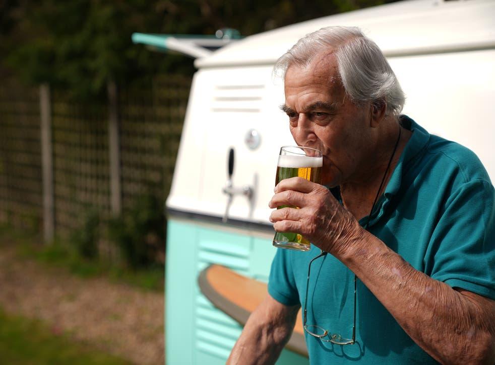 Someone enjoys a tasty pint