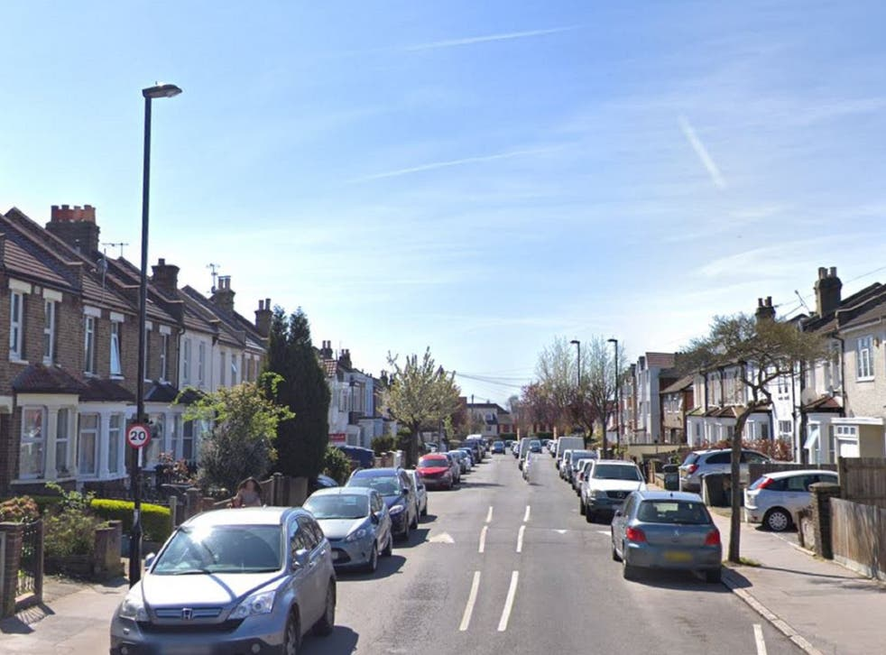 Moffat Road in Croydon, south London, where a schoolgirl was stabbed in the leg by a 15-year-old boy