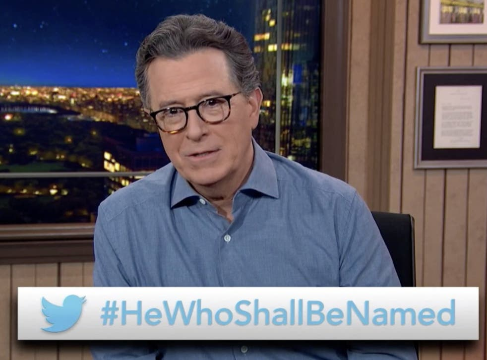 Stephen Colbert wants your suggestions on what to call former President Donald Trump
