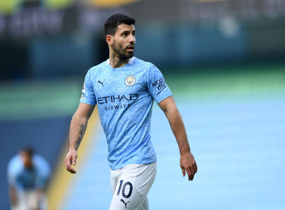 <p>Aguero will be looking for a new club next season</p>