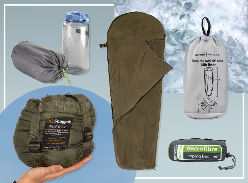 <p>In hot weather a liner can take the place of a sleeping bag altogether, providing a thin, airy cover that won't be too stifling</p>