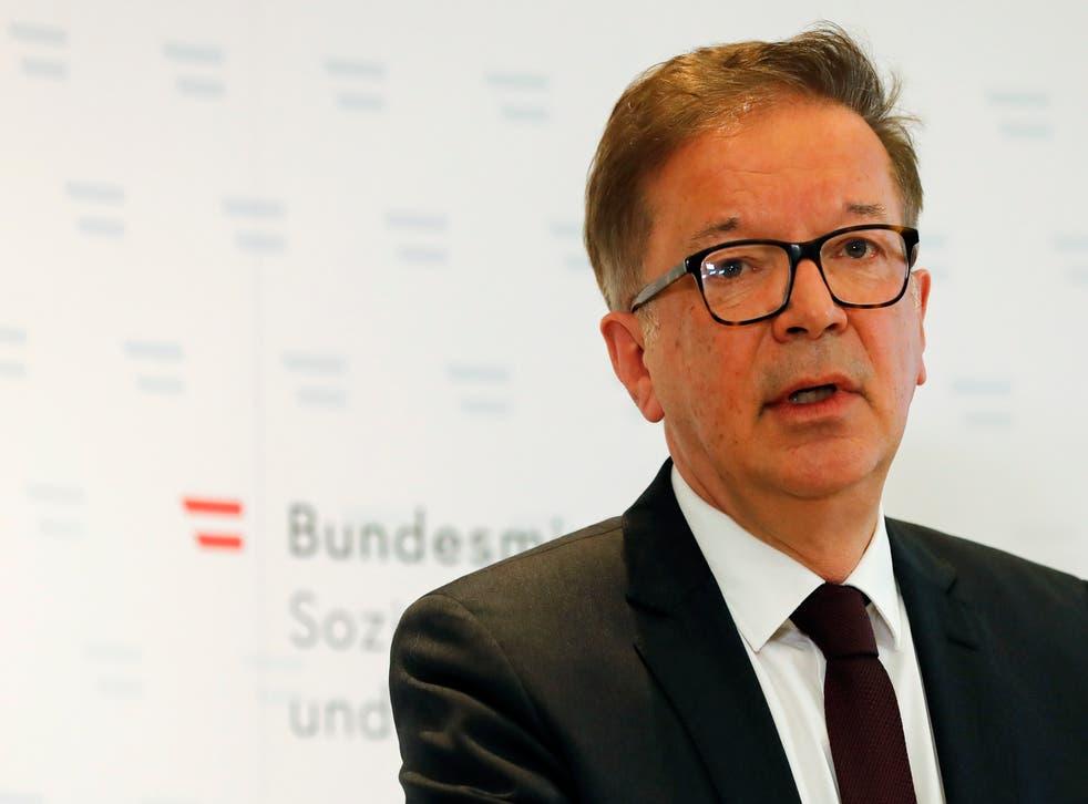 AUSTRIA-MINISTRO DE SALUD