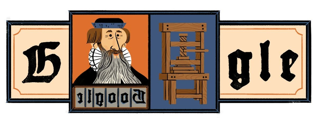 Why is Google Doodle honouring Johannes Gutenberg and what did he invent?