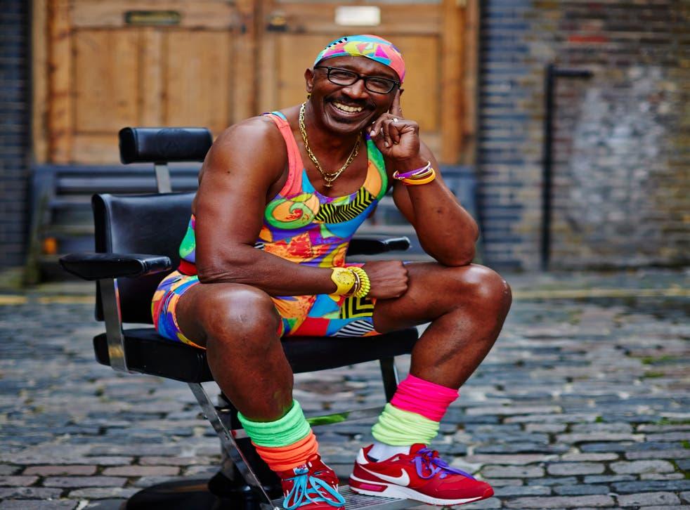 Mr Motivator sporting his trademark bright workout gear