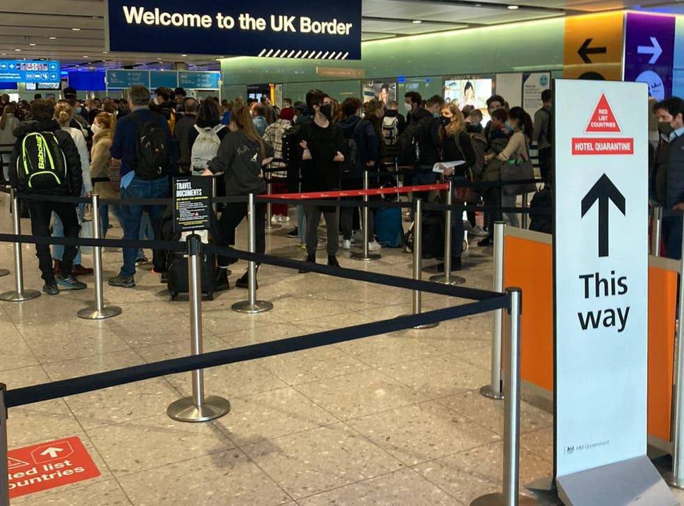 Waiting game: arrivals at Heathrow airport