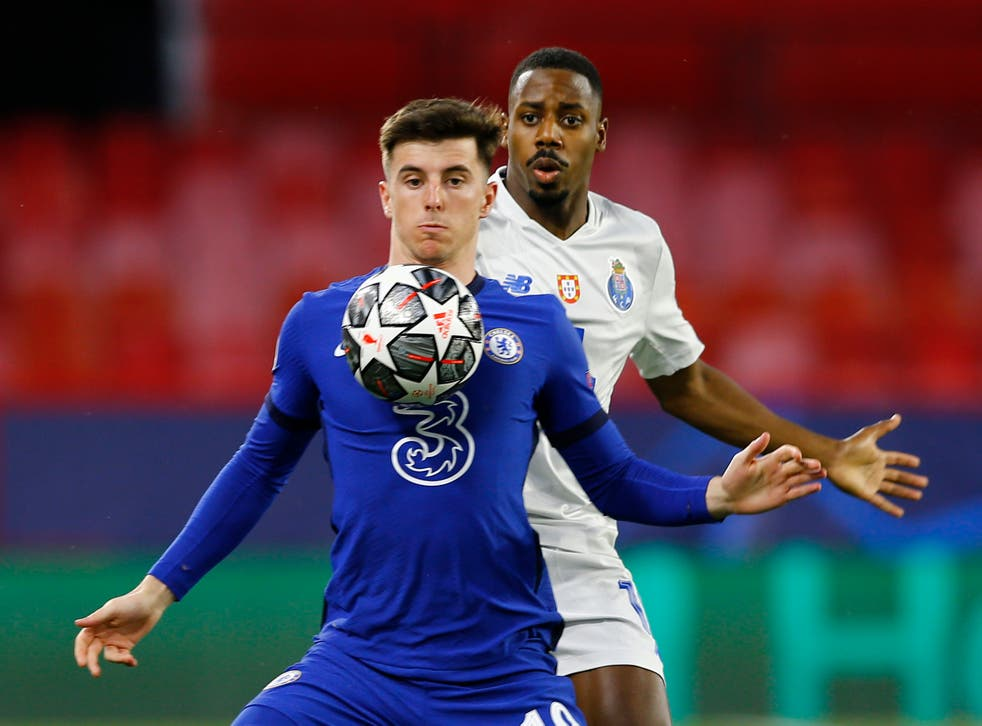 Mason Mount in action against Porto in the Champions League