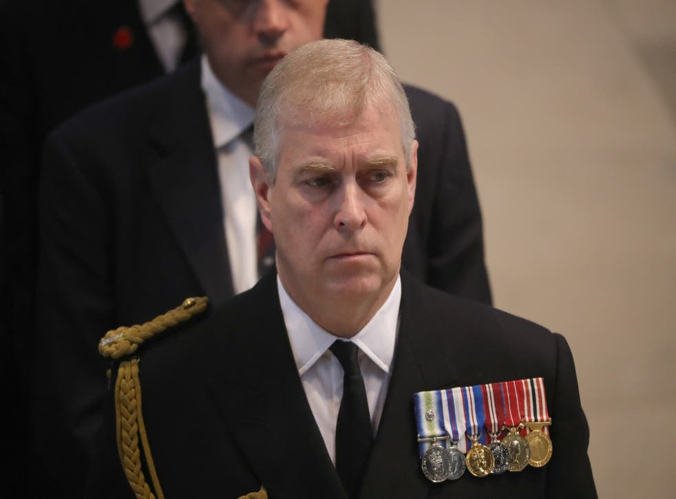 <p>Prince Andrew attends a commemoration service in 2016 marking the 100th anniversary since the start of the Battle of the Somme</p>