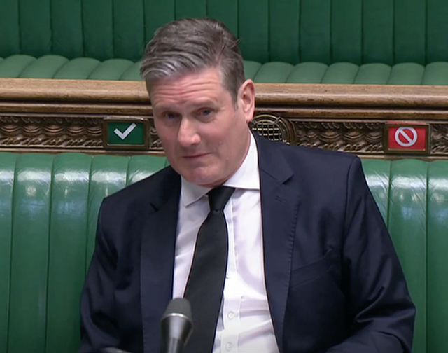 <p>Keir Starmer's furrowed brow was replaced by a quizzical smile </p>