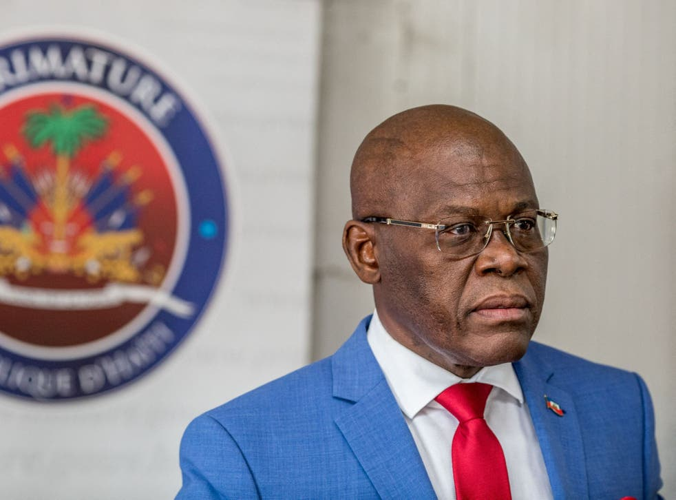 Haiti's prime minister Jouthe Joseph (pictured) has announced his resignation amid a spike in killings and kidnappings in the Caribbean country