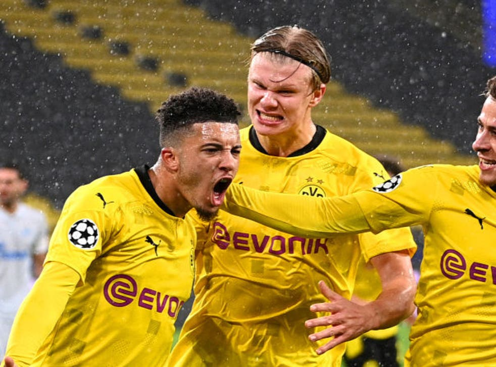 <p>Jadon Sancho and Erling Haaland are two players rumoured to be leaving</p>