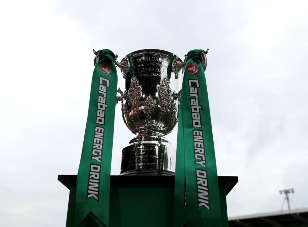 <p>City and Spurs will vie for the trophy</p>