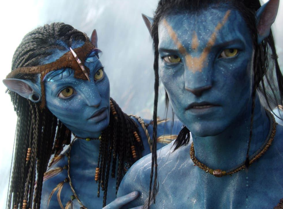 Neytiri (Zoë Saldana) and Jake (Sam Worthington) in Avatar