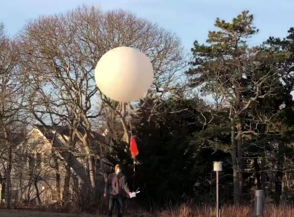 <p>Officials at the Chatham, Massachusetts, weather station on its final day </p>