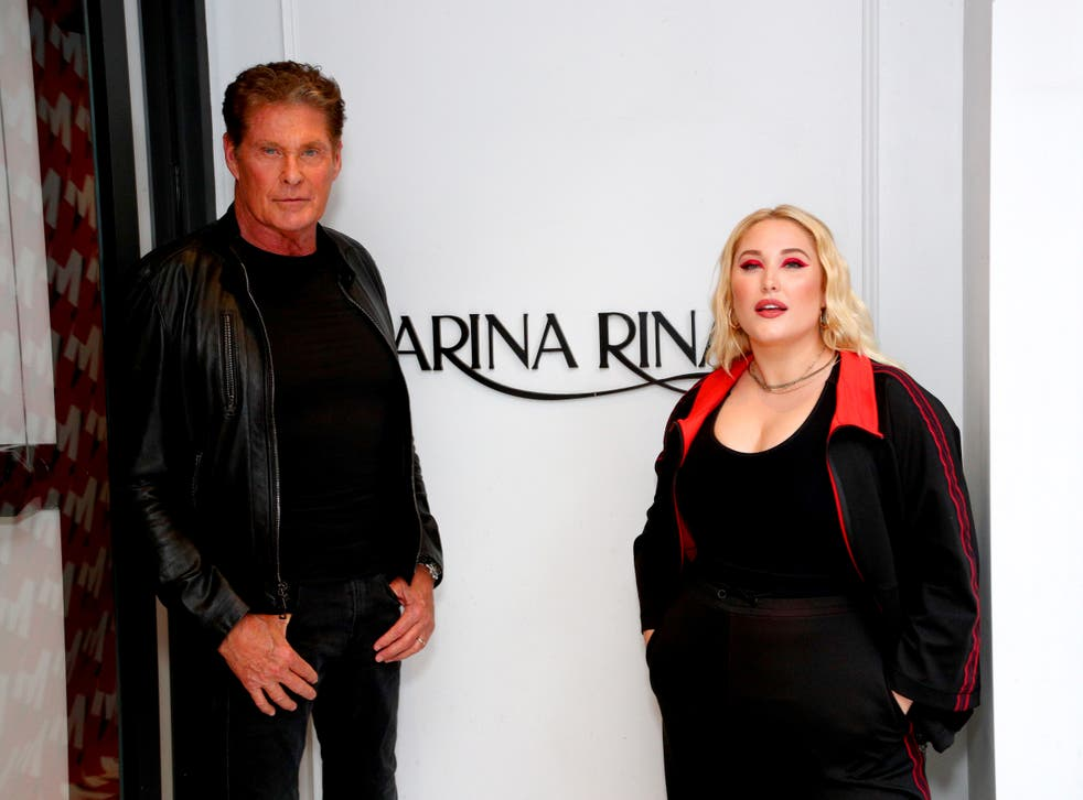 <p>File image: David Hasselhoff and Hayley Hasselhoff attend the GYM Capsule Collection at Marina Rinaldi Boutique </p>