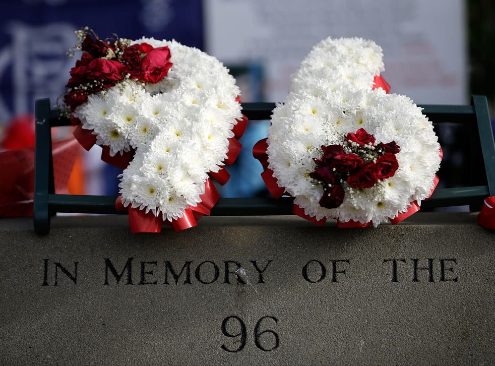 Tributes are placed at Sheffield Wednesday's Hillsborough stadium