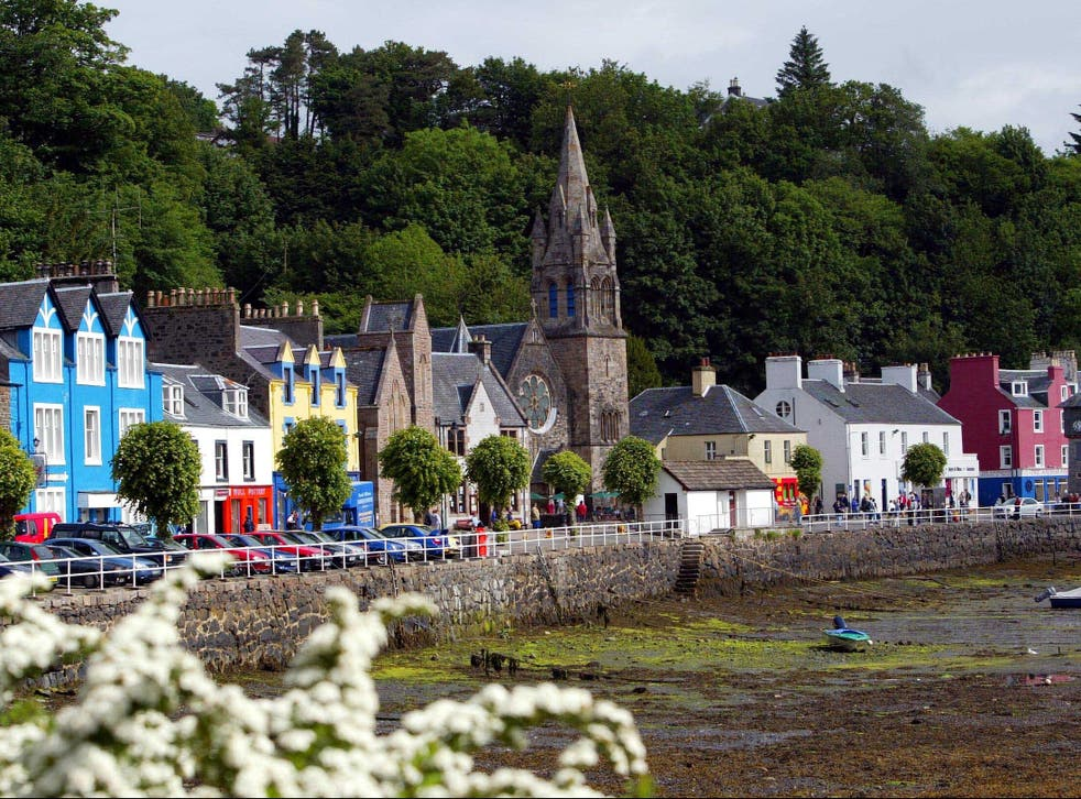 <p>A view of the Isle of Mull in Scotland's Western Isles, which have suffered from population decline in recent years</p>
