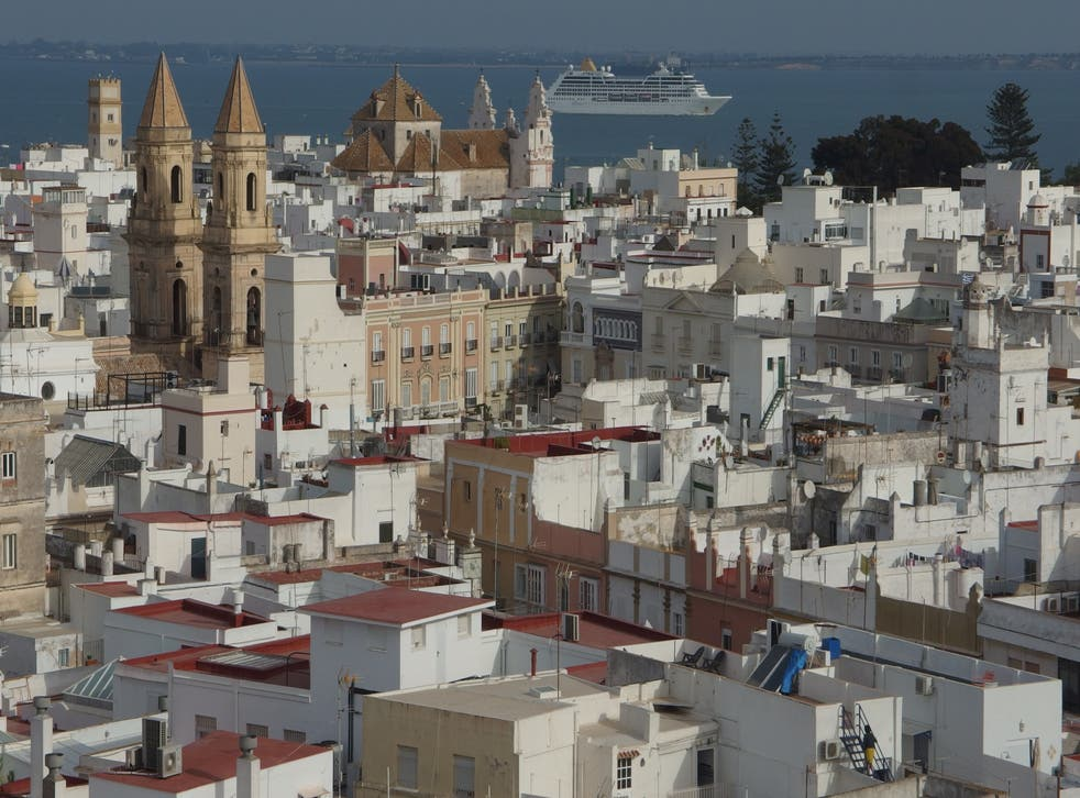 Distant dream: Cadiz in southwest Spain, expected to be on the 'amber list' of nations when travel from the UK is allowed from 17 May