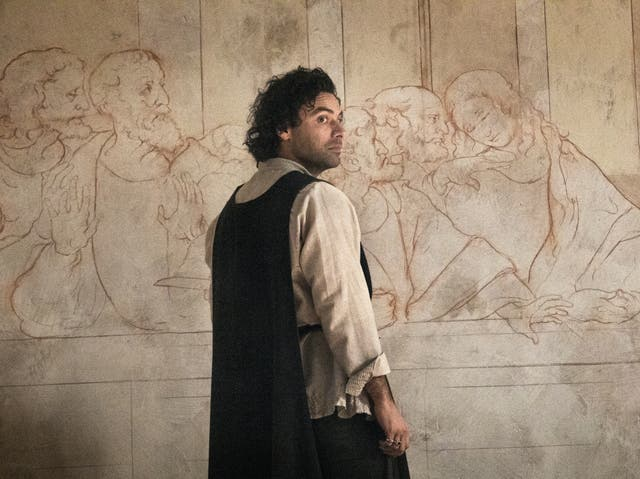 Aidan Turner as da Vinci in Leonardo