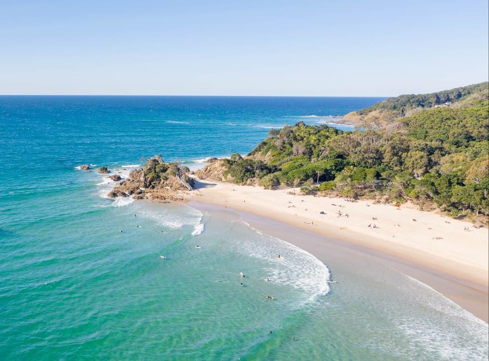 <p>A beach in Byron Bay</p>