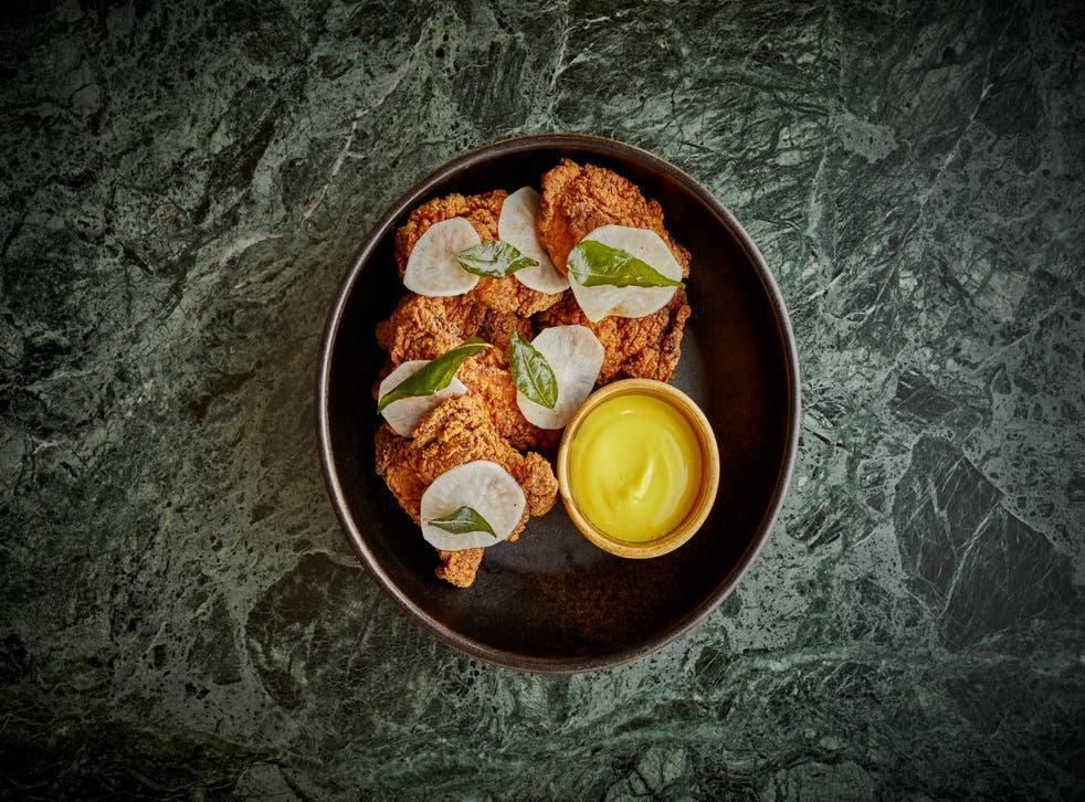 <p>Kricket's Keralan fried chicken</p>