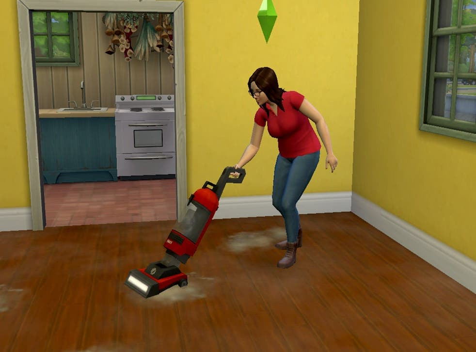 <p>It looks so much fun to let your sim hoover </p>