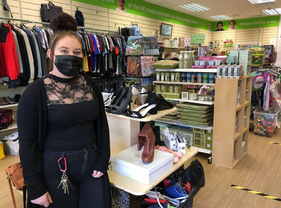 <p>Lauren Hague, manager at Barnardo's charity shop in Broomhill, Sheffield</p>