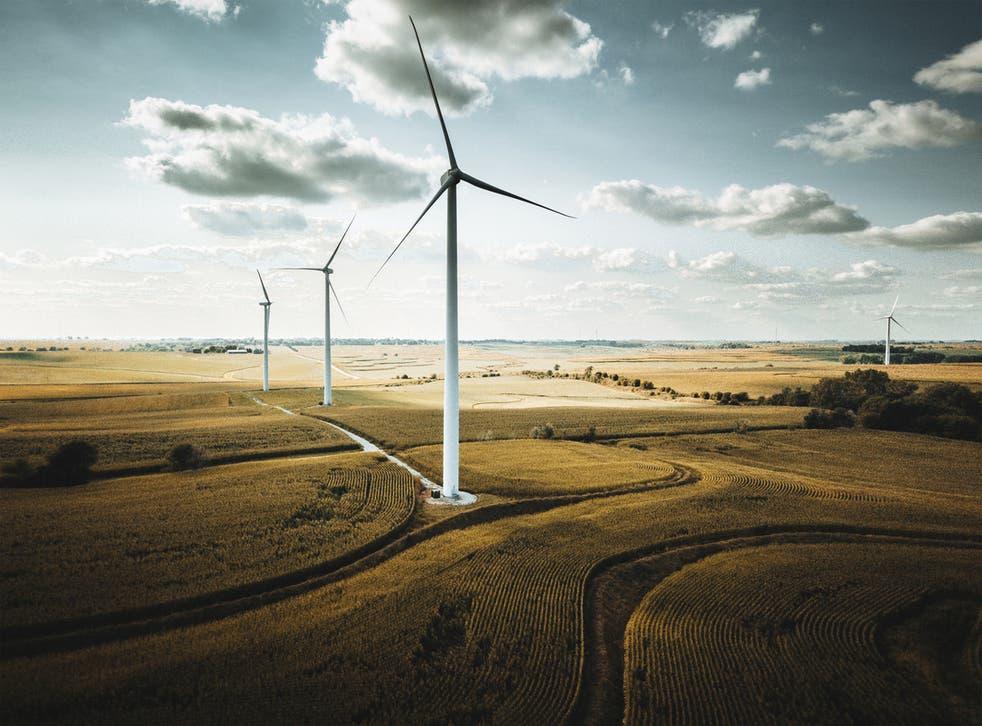 <p>Wind turbines in Nebraska</p>