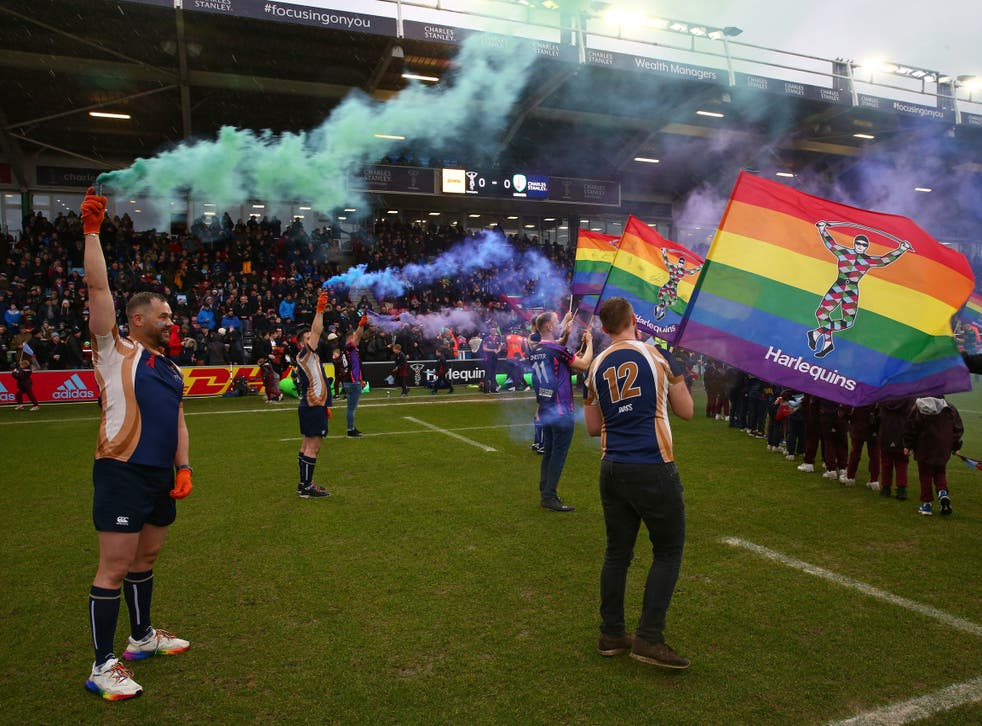 <p>Harlequins host the first Pride Match in February 2020</p>