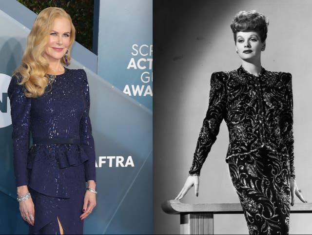 Nicole Kidman (left) portrays Lucille Ball (right) in an upcoming film