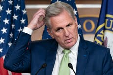 'I've had it with her': Kevin McCarthy caught on hot mic bad-mouthing Liz Cheney, report says