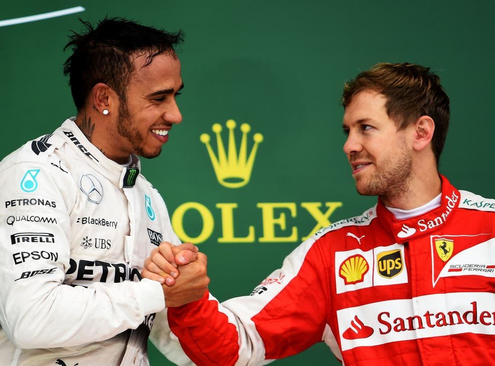 Lewis Hamilton (left) and Sebastian Vettel in 2015