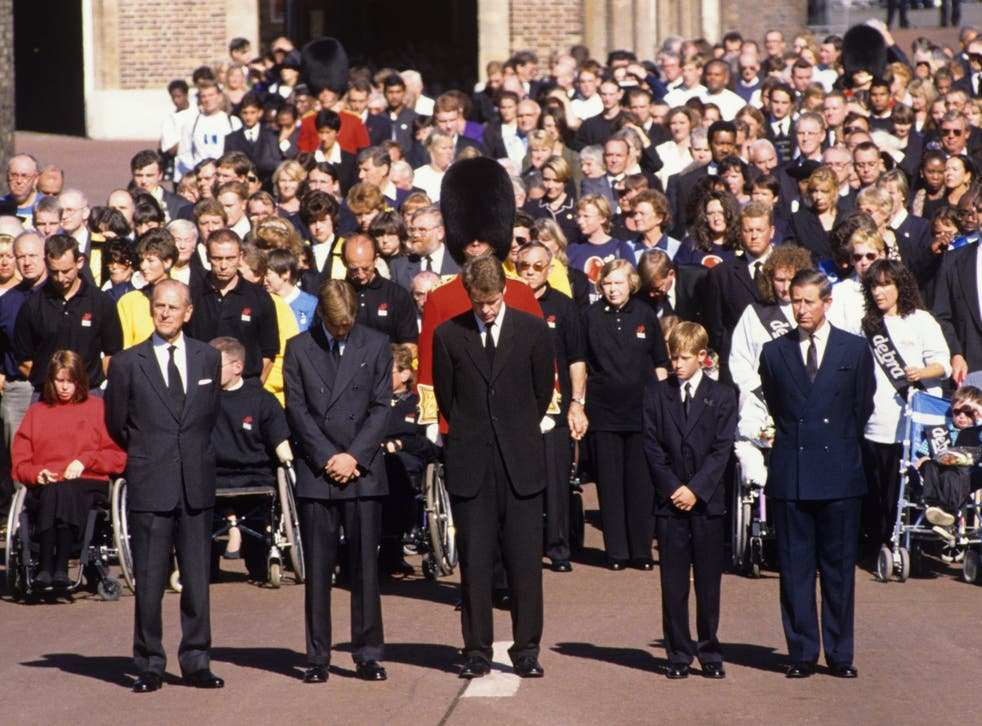 <p>Princess Diana's funeral, in 1997, was the first major royal ceremonial funeral since that of Queen Mary in 1953</p>