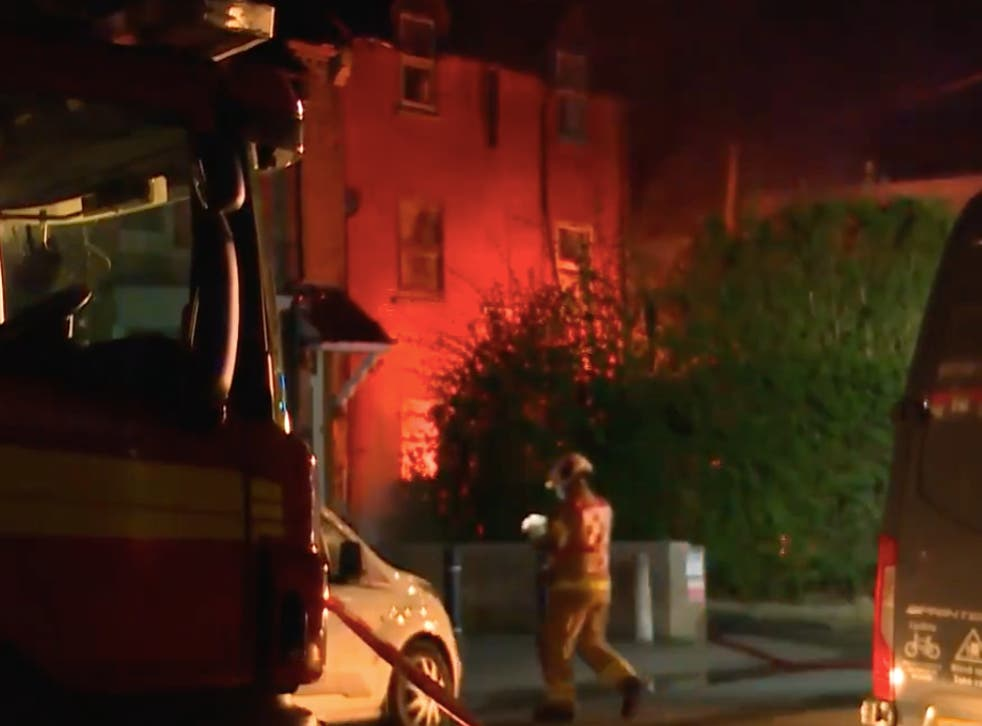 Firefighters tackled a huge blaze at a substation in Northampton, which resulted in power cuts for thousands of homes