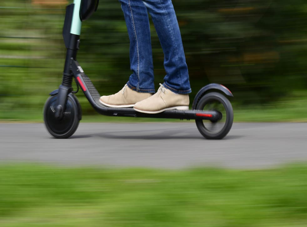<p>The government is trialing an e-scooter rental scheme in cities across the UK</p>