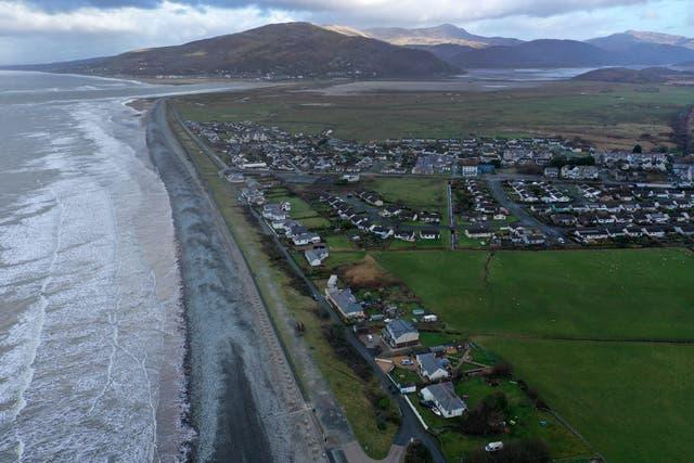<p>Fairbourne in Gwynedd is under threat from rising sea levels</p>