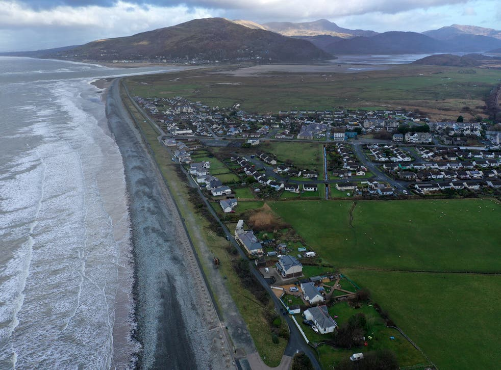 <p>Fairbourne in Gwynedd is under threat from rising sea levels</p>