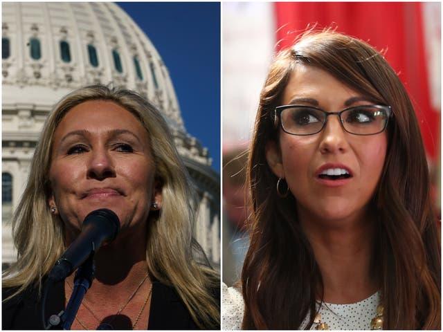 Marjorie Taylor Greene de Georgia y Lauren Boebert de Colorado fueron los únicos dos miembros de la Cámara que votaron en contra de la Ley de trasplantes.