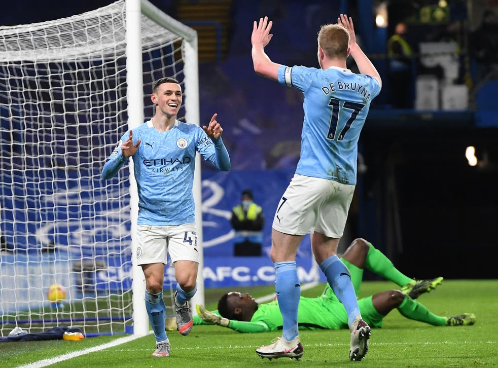 Manchester City pair Phil Foden and Kevin De Bruyne