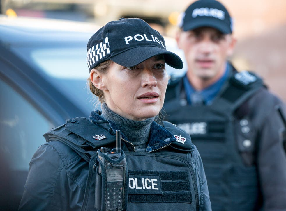 <p>Bent copper alert: Kelly Macdonald as DCI Joanne Davidson in 'Line of Duty'</p>