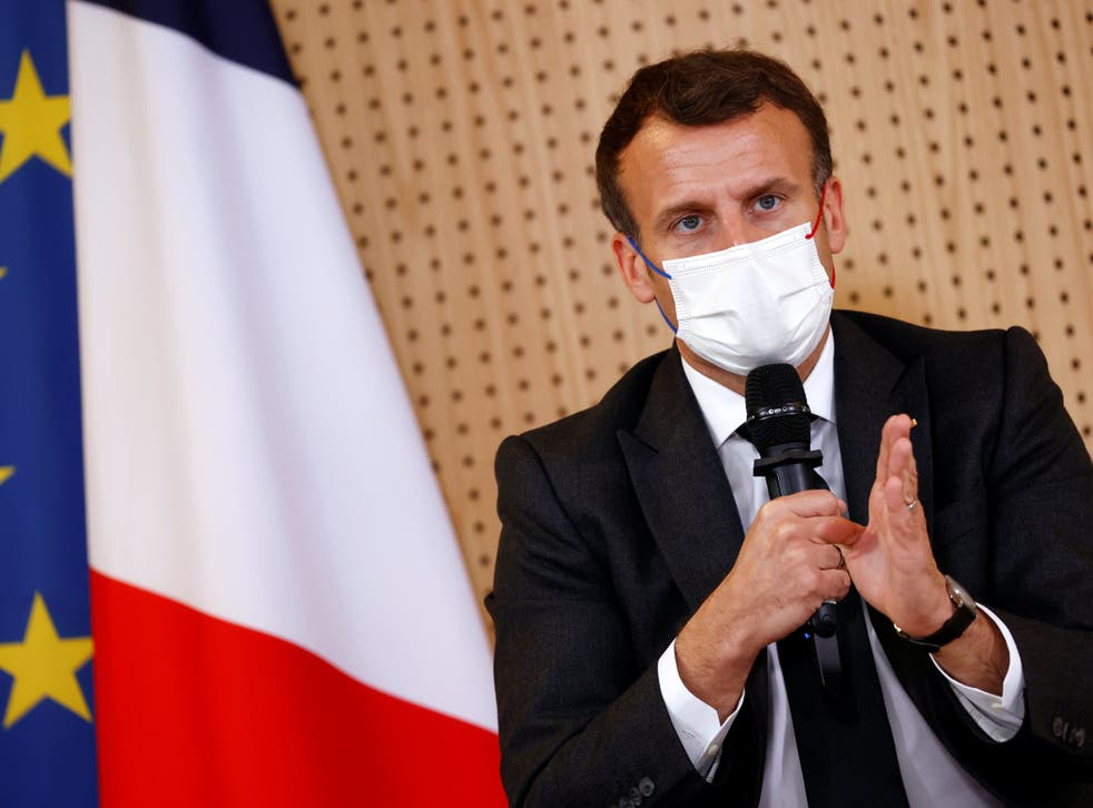 <p>Recent polls have shown Emmanuel Macron behind far-right leader Marine Le Pen in the first round for France's presidential election next year</p>