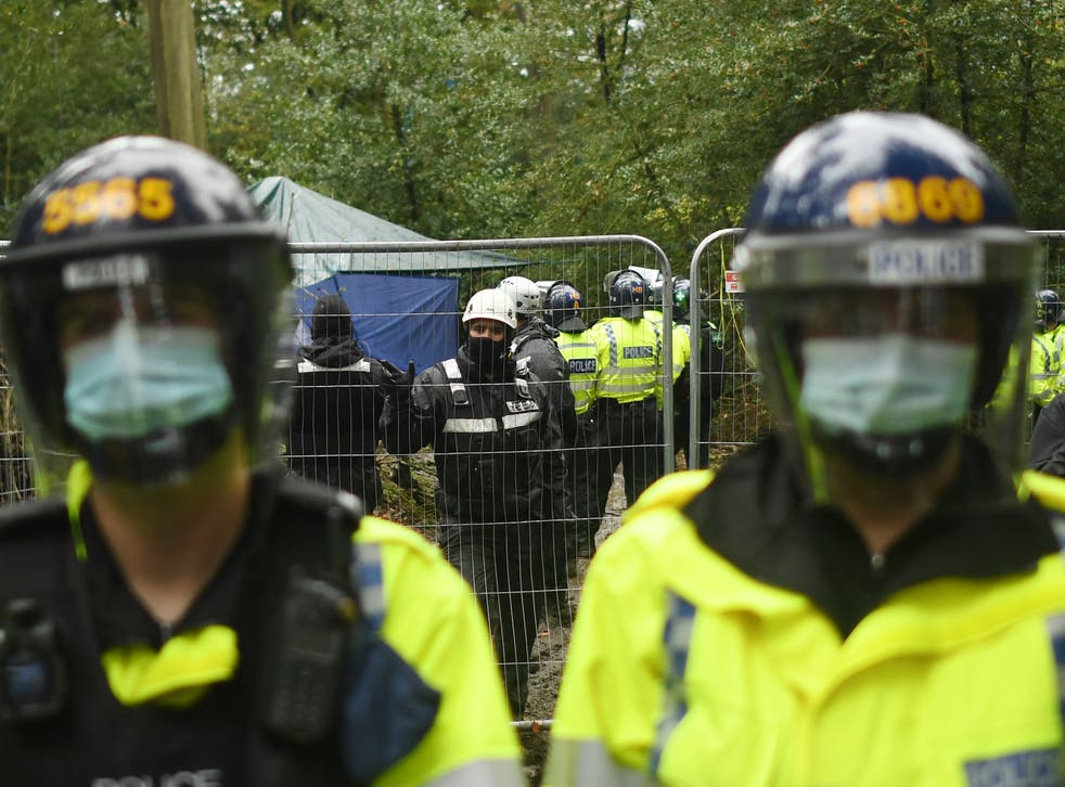 Protesters at Jones Hill Wood were evicted while they said they were protecting bats, badgers, tawny owls and foxes