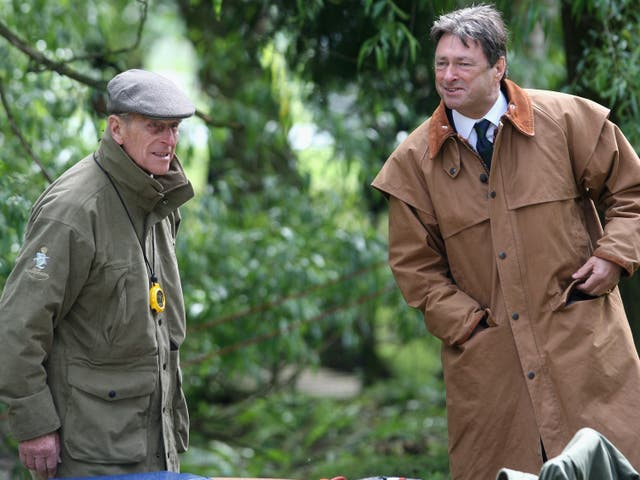 <p>Prince Philip with Alan Titchmarsh in 2009</p>