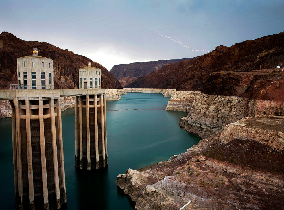 <p>The Hoover Dam, pictured in 2018, is suffering a dire water shortage</p>