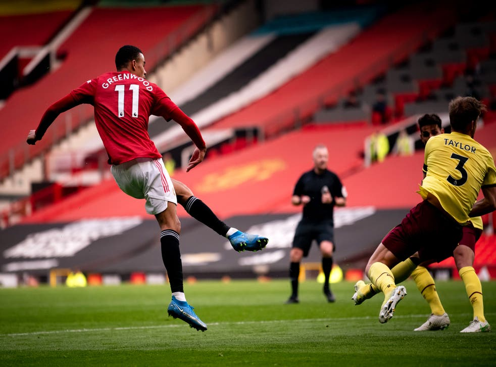 Mason Greenwood fires home United's second goal