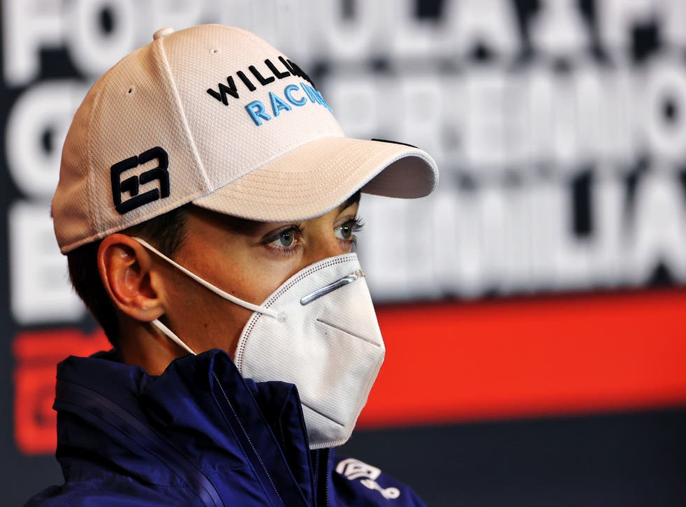 <p>Williams driver George Russell was unharmed following the crash</p>