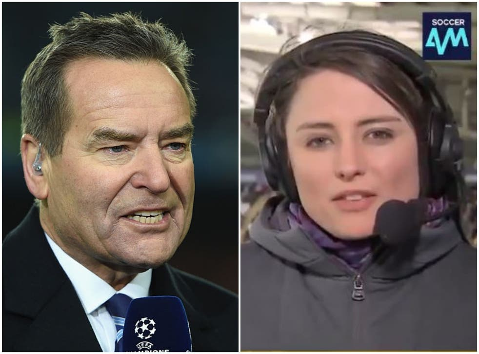 <p>Jeff Stelling criticised those who levelled abuse at Michelle Owen</p>