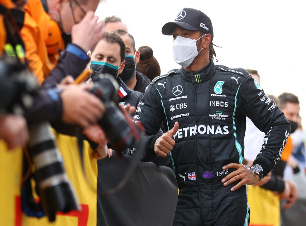 <p>Lewis Hamilton fell to ninth position following his spin</p>