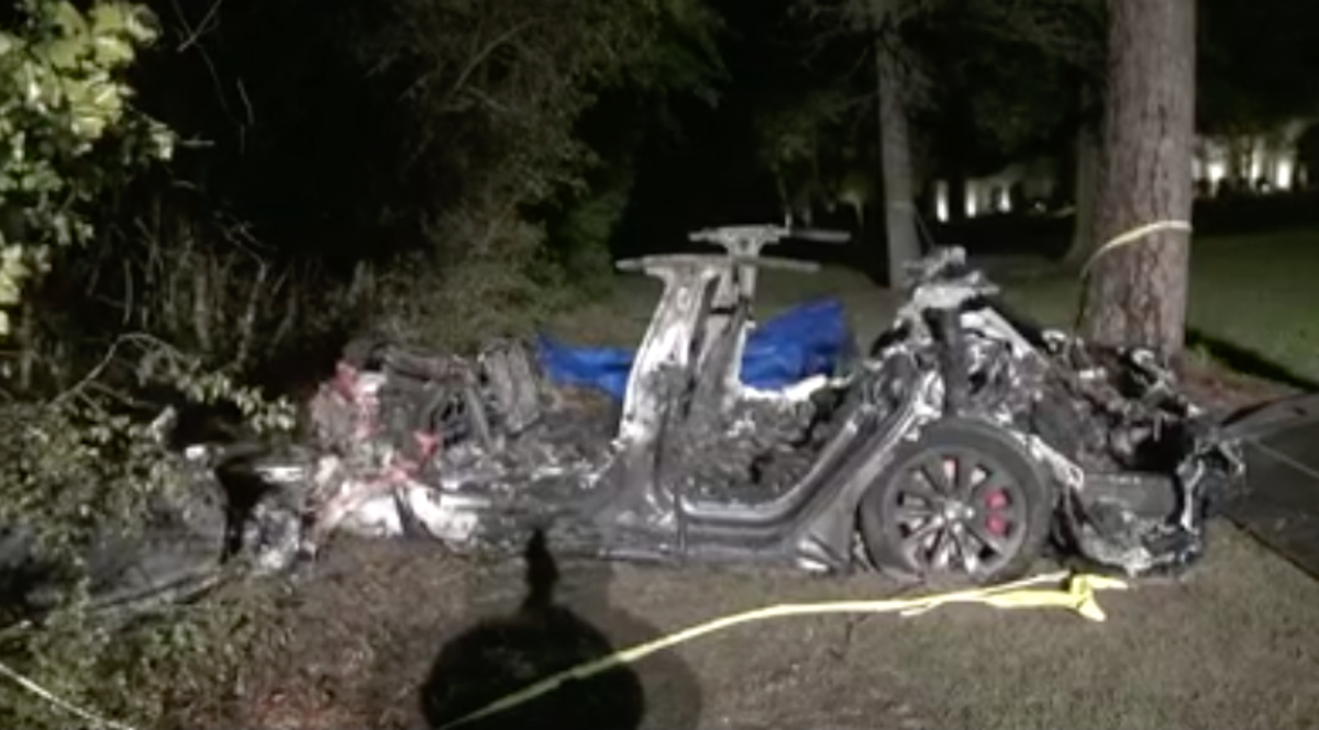 Officials say 'no one driving' vehicle in fiery Tesla crash that left two dead