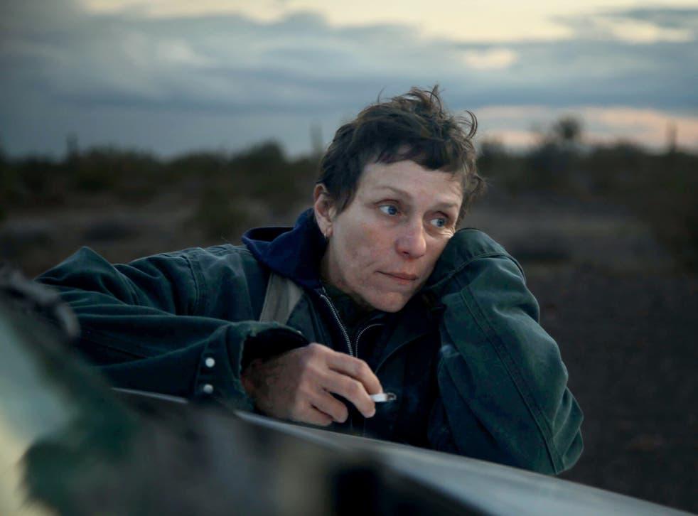 <p>Frances McDormand in Nomadland</p>