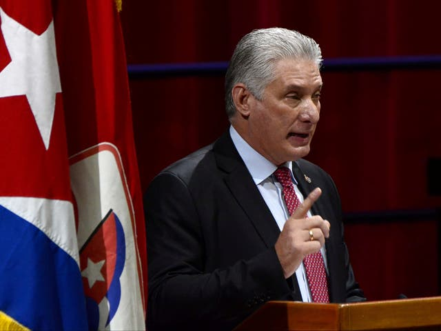 <p>Miguel Diaz-Canel  was elected to the most powerful position in Cuba at the Communist Party's conference on Monday</p>